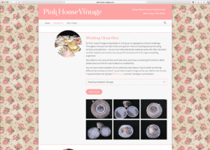 Pink House Vintage China Hire Services Page
