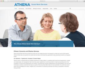 Athena Social Work Service Homepage Designed Bu Webwalrus