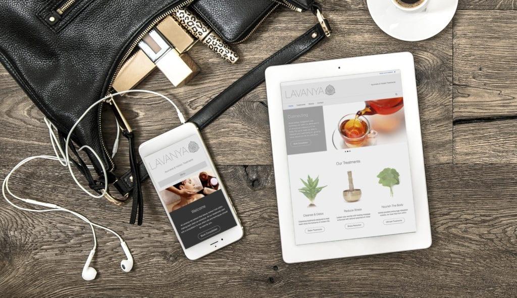 Lavanya Holistics Website Design by Webwalrus