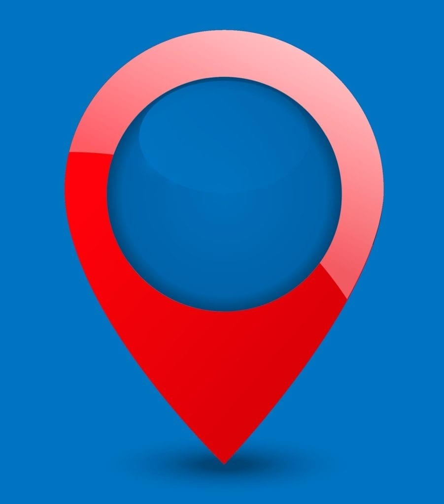 Google map pin blue