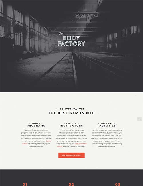 Gym, crossfit, Fitness website homepage template