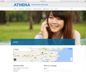 Athena Social Work Service Contact Page Designed By Webwalrus