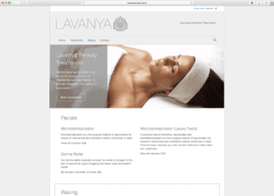 Lavanya Holistics Product Page Design by Webwalrus Colchester